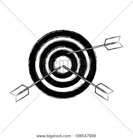 target market consumer bullseye or goalnounce vector illustration