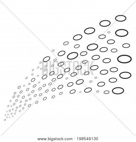 Source of ellipse bubble symbols. Vector illustration style is flat gray iconic ellipse bubble symbols on a white background. Object fountain done from design elements.