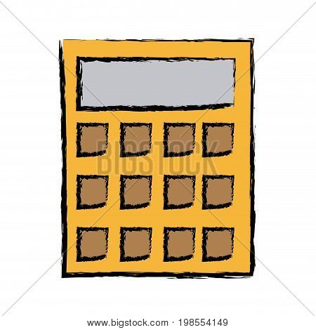 calculator financial business equipment account vector illustration