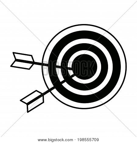 target market consumer bullseye or goalnounce vector illustration