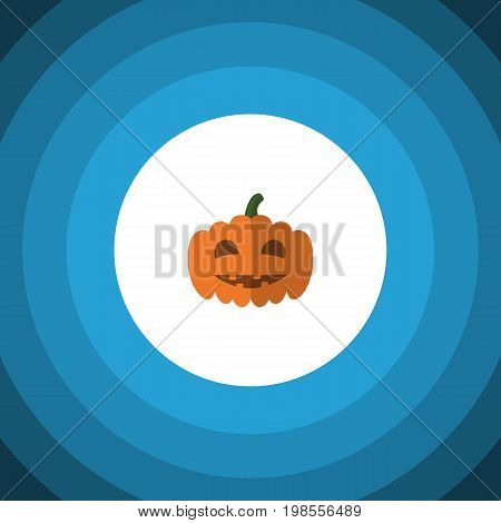 Gourd Vector Element Can Be Used For Pumpkin, Gourd, Halloween Design Concept.  Isolated Pumpkin Flat Icon.
