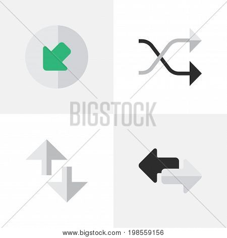 Elements Cursor, Import, Chaotically And Other Synonyms Loading, Chaotically And Internet.  Vector Illustration Set Of Simple Pointer Icons.