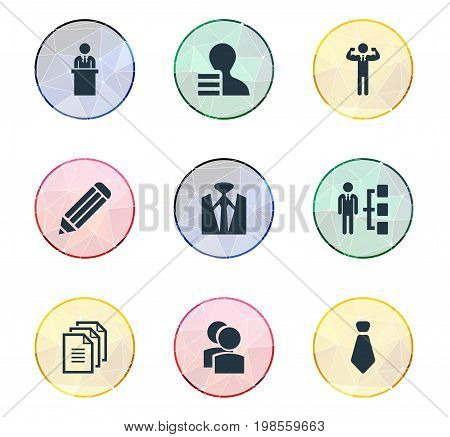 Elements Hierarchy, Group, Team Lider And Other Synonyms Eraser, Coach And Leader.  Vector Illustration Set Of Simple Hr Icons.