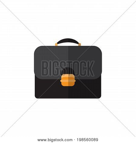 Briefcase Vector Element Can Be Used For Briefcase, Suitcase, Handbag Design Concept.  Isolated Suitcase Flat Icon.