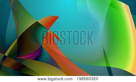 Abstract Picture Of Several Colorful Fish Flippers