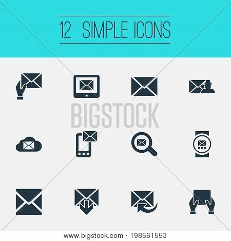 Elements Entering, Smartphone, Specter And Other Synonyms Specter, Web And Communication.  Vector Illustration Set Of Simple Communication Icons.