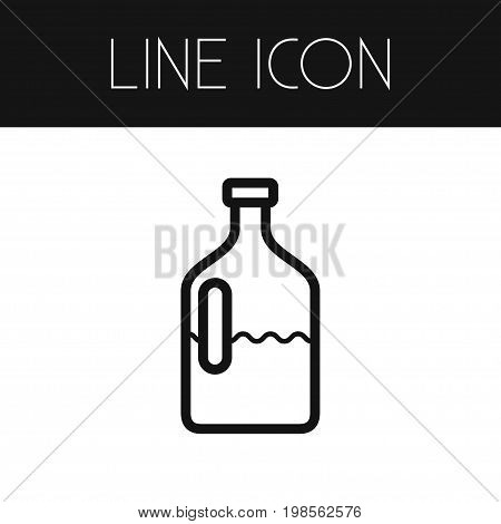 Jar Vector Element Can Be Used For Jar, Dairy, Jug Design Concept.  Isolated Dairy Jug Outline.