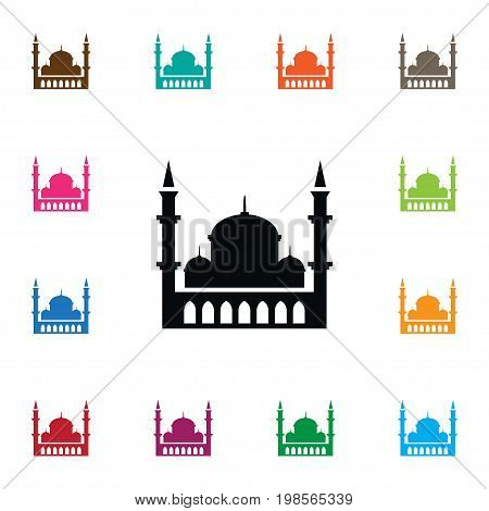Minaret Vector Element Can Be Used For Minaret, Mosque, Islam Design Concept.  Isolated Islam Icon.