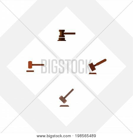 Flat Icon Lawyer Set Of Defense, Justice, Tribunal And Other Vector Objects