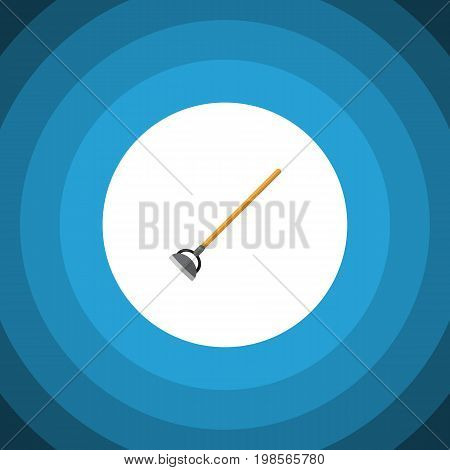 Tool Vector Element Can Be Used For Hoe, Tool, Gardening Design Concept.  Isolated Hoe Flat Icon.