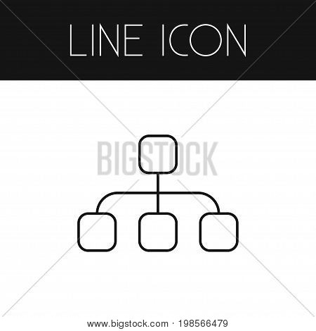 Structure Vector Element Can Be Used For Hierarchy, Structure, Model Design Concept.  Isolated Hierarchy Outline.