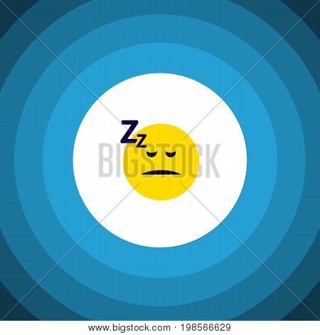 Asleep Vector Element Can Be Used For Sleeping, Asleep, Face Design Concept.  Isolated Sleeping Flat Icon.