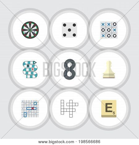 Flat Icon Games Set Of Sea Fight, Pawn, Multiplayer And Other Vector Objects