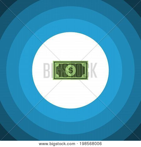 Greenback Vector Element Can Be Used For Greenback, Money, Dollar Design Concept.  Isolated Dollar Flat Icon.