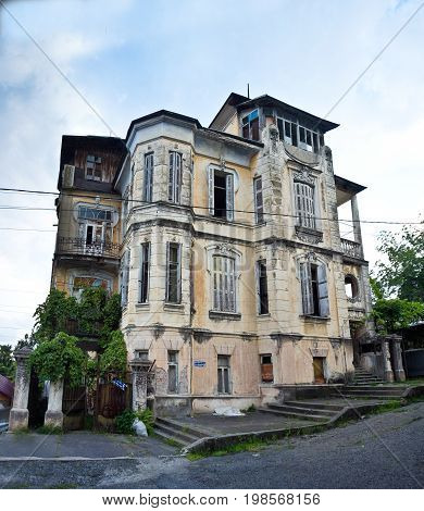 The old beautiful mansion of the Hofmeister in Sukhum, Abkhazia
