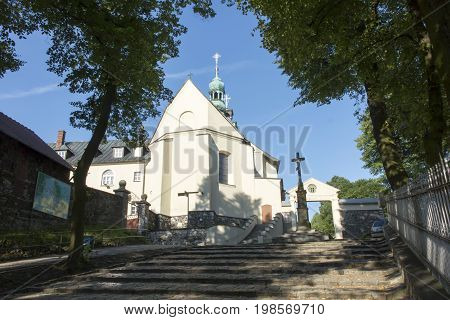 Mountain St. Anna Basilica Franciscan monastery and the International Shrine of St. Anna Poland