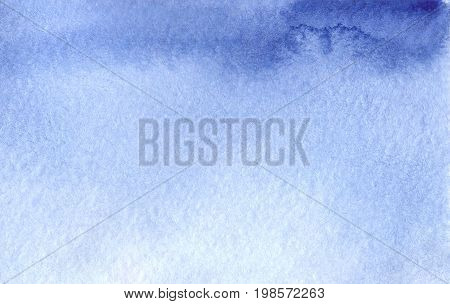 Watercolor light blue sky template texture background