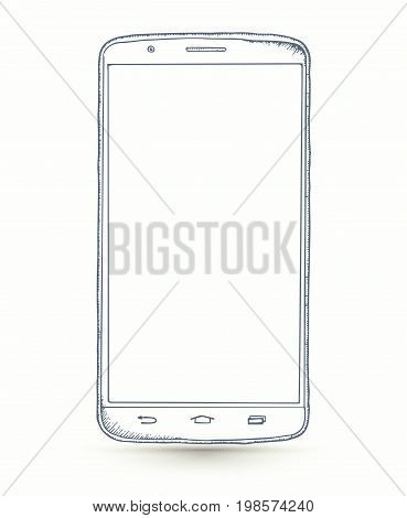 New realistic smartphones mockups isolated on white background. Stock vector illustration for printing web element Game demo and application mockup.