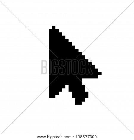 Vector modern arrow cursor icon on white background