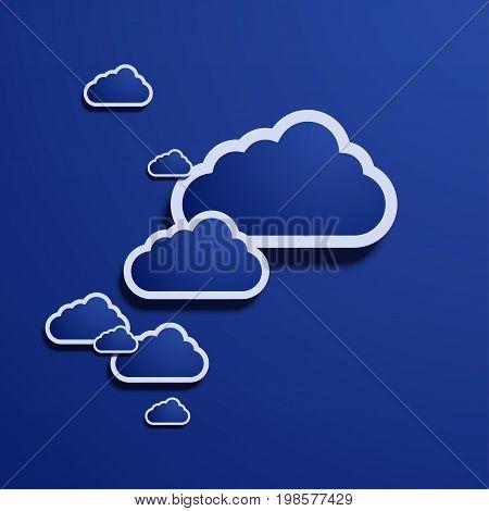 Vector modern computer cloud creative background. eps10