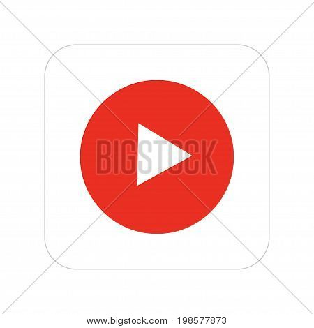 Vector modern video icon on white background