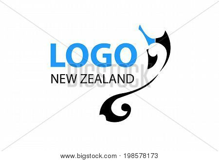 Vector - New Zealand Modern Logo, Isolated On White Background. Vector Illustration.