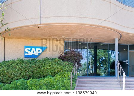 Sap Coporate Building And Logo