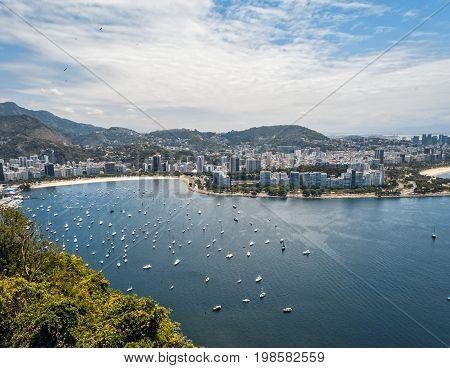 Amazing Rio de Janeiro View over Sugar Loaf, Rio de Janeiro, Brazil