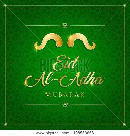 eid al adha, kurban bayrami card background vector illustration