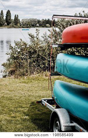Kayak On The Trailer
