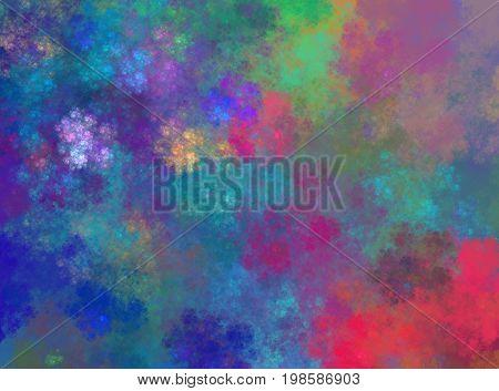 multi colored fractal nebula back ground back drop