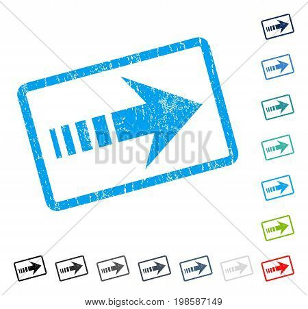 Send Right rubber watermark in some color versions.. Vector icon symbol inside rounded rectangle with grunge design and dust texture. Stamp seal illustration, unclean emblem.
