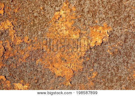 Texture Of Old Rusty Metal. Brown Metal. Corrosion Of The Metal