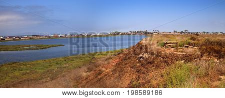 Peaceful And Tranquil Marsh Of Bolsa Chica Wetlands