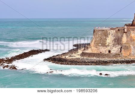 The historic San Felipe del Morro fort in San Juan Puerto Rico