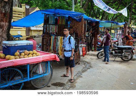 Street Market In Bodhgaya, India