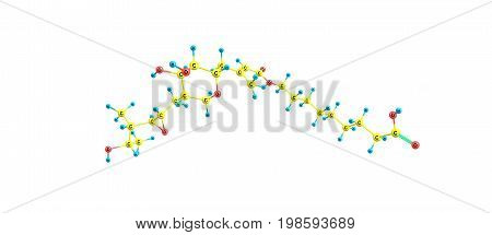 Mupirocin Molecular Structure Isolated On White