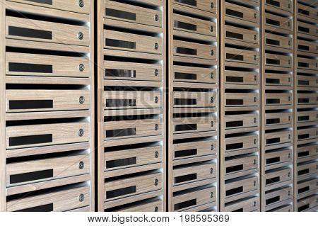 Mailboxes Postal In A Condominium