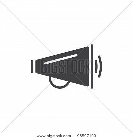 Megaphone icon vector, filled flat sign, solid pictogram isolated on white. Announcement symbol, logo illustration. Pixel perfect vector graphics