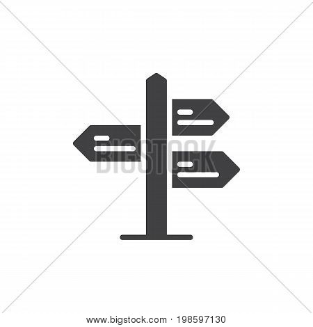 Signpost pointer icon vector, filled flat sign, solid pictogram isolated on white. Symbol, logo illustration. Pixel perfect vector graphics