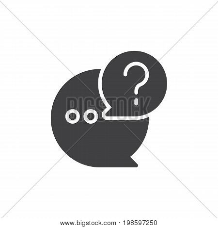 QnA icon vector, filled flat sign, solid pictogram isolated on white. Questions and answers symbol, logo illustration. Pixel perfect vector graphics