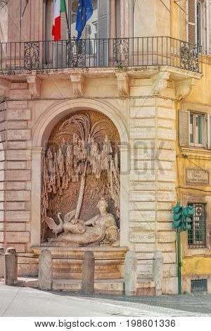 Beautiful Landscape  Urban And Historical View Of The Rome,  Urban Life Of The Eternal City. Four Fo