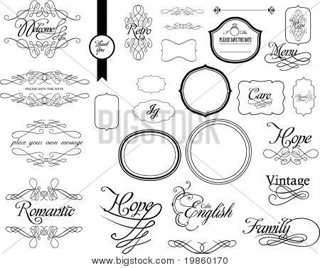 set of lovely calligraphy for wedding use