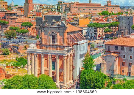 View Of The Roman Forum From The Hill Of Palatine - A General Overview Of The Entire Roman Forum Ato