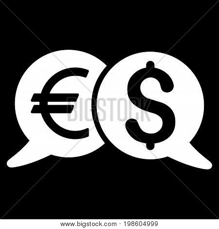 International Payments vector icon. Flat white symbol. Pictogram is isolated on a black background. Designed for web and software interfaces.