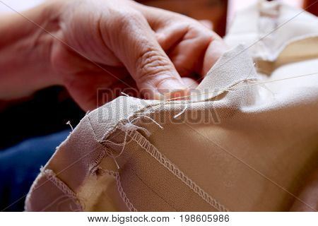 Tailor, Closeup, Dress, Thread, Workplace, Background, Business, Cloth, Clothes, Clothing, Color, Co