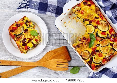 Delicious Zucchini Gratin With Red Beans