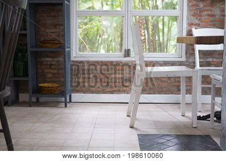 Table And Chair In Food Court, Cafe, Coffee Shop, Restaurant, Dining Room Interior