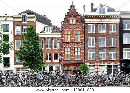 Amsterdam Holland Europe - buildings and bicycles