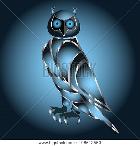 Business corporate owl logo design vector. Wise logo vector template.